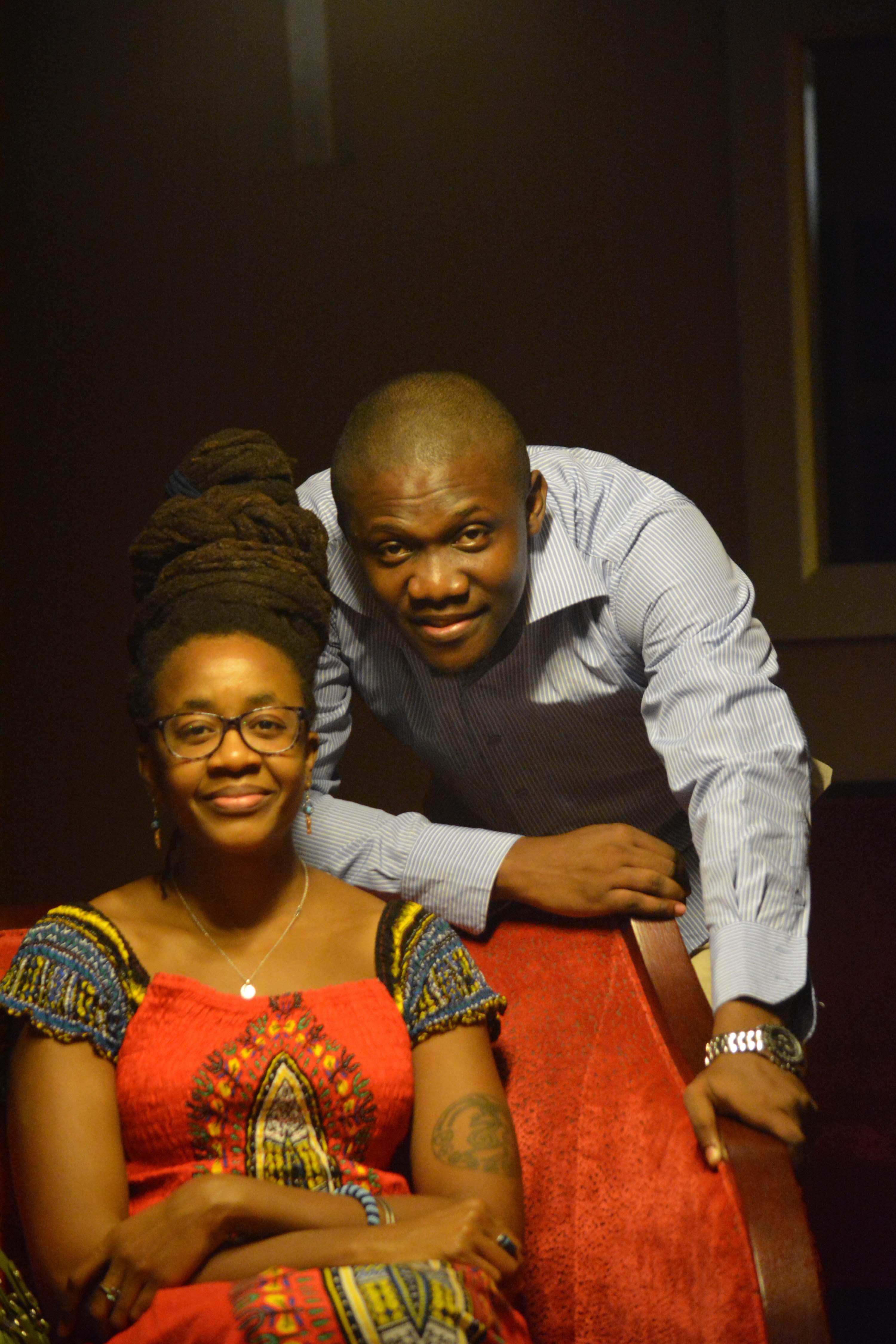 Nnedi Okorafor with C.J. Obasi